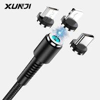 XUNJI-Cable magnético de carga Micro USB tipo C, para teléfonos móviles