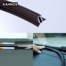 רכב גומי צליל חותם רצועת לוח מחוונים בידוד 1.6M U סוג אוטומטי שמשה קדמית קצוות פער איטום רצועות עבור אביזרי רכב
