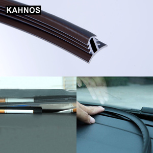 Image 1 - Car Rubber Sound Seal Strip Dashboard Insulation 1.6M U Type Auto Windshield Edges Gap Sealing Strips For Car Accessories