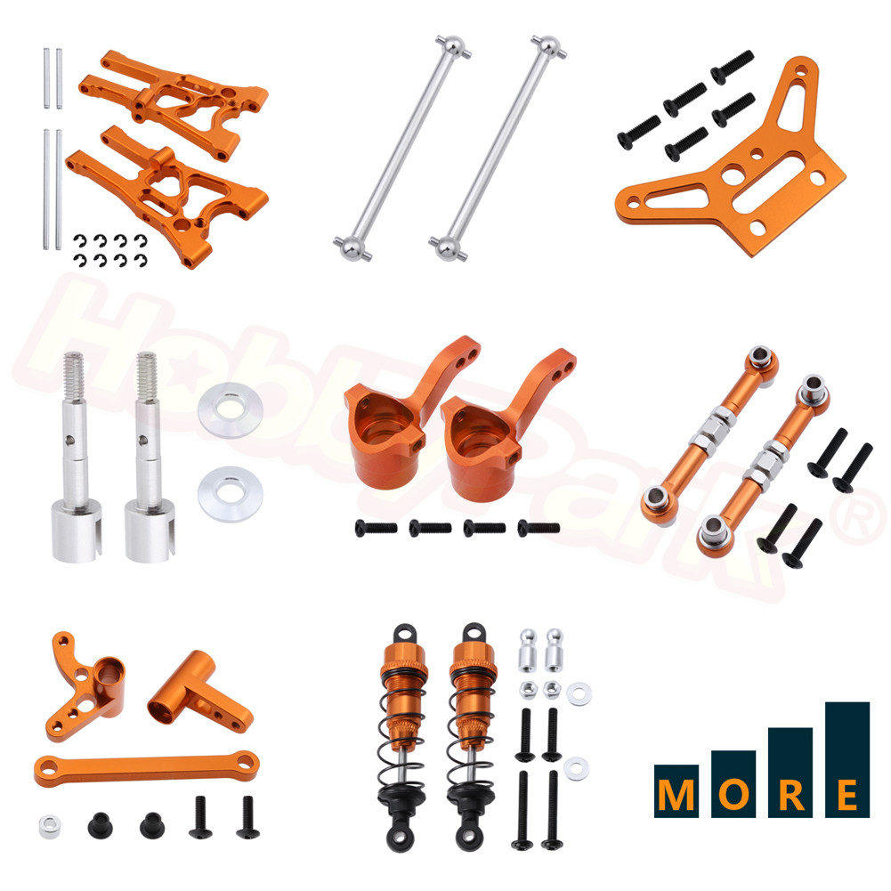 Metal Aluminum Upgrade Parts For 1/10 Scale HPI RC Car WR8 Flux Rally Bullet MT ST 3.0 Ken Block Replacement Orange Anodized
