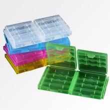 10 ボックス/ロットプラスチックバッテリーホルダーボックスオーガナイザーコンテナ Aa と Aaa のバッテリー収納ボックスケースカバーのための AA & AAA バッテリー