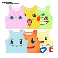 Kawaii Harajuku Pocket Monsters Crop Top Women Camis Pokemon