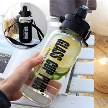 Glass Water Cup Super Large Capacity 1L 2.5L Tea Bottle Large Capacity Home Portable Insulation Bottle Outdoor Tour Water Bottle 1l large capacity thermos nordic thermal insulation kettle household thermal insulation pot glass liner thermos hot water bottle