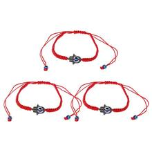Braided Kabbalah Bracelets Rotating Evil Eye Hamsa Hand for Protection Bracelets(China)
