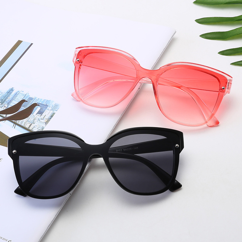 2019 Red blue round Sunglasses Women Brand Designer Fashion Pink Yellow Sun Glasses Vintage Retro Shades image