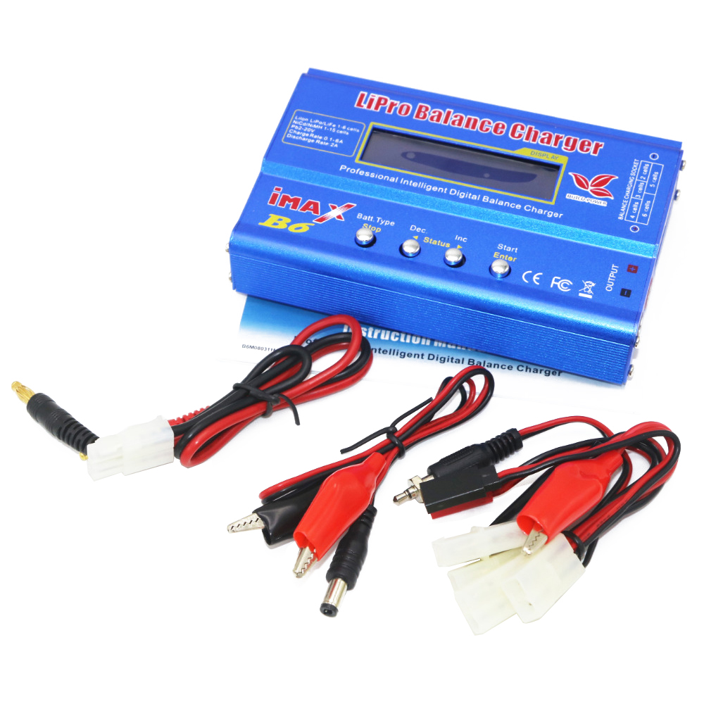 Image 4 - 1pcs Digital IMAX B6 80W Lipo Battery Balance Charger With T Plug/XT60 Plug/Tamiya Plug/Mini Tamiya Plug for RC Quadcopterlipo battery balance chargerbalance chargerimax b6 80w -