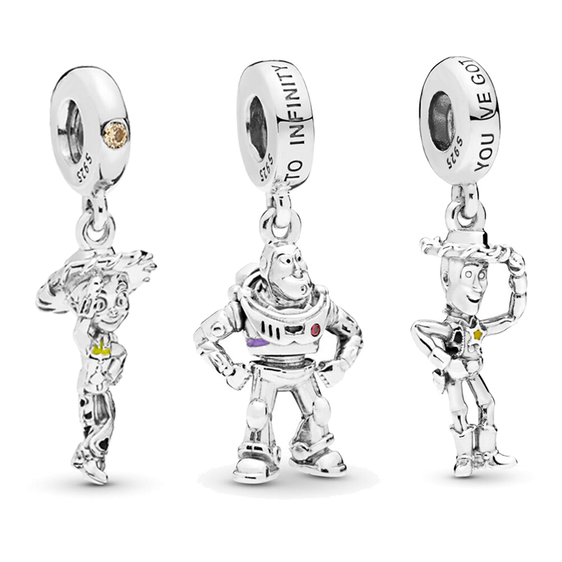 Bracelets Jewelry Charms Toy-Story Woody Lightyear 925-Sterling-Silver Pandora Original