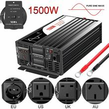 Solar-Power-Inverter Remote-Control Sine-Wave 1500W 220V DC 110V Pure 48V 12v 24v AC