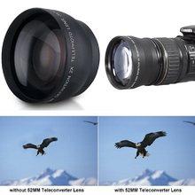 Профессиональный телеобъектив Cewaal для камеры Nikon D5100 D3200 D70 D40, 52 мм, увеличение 2x, цифровые камеры