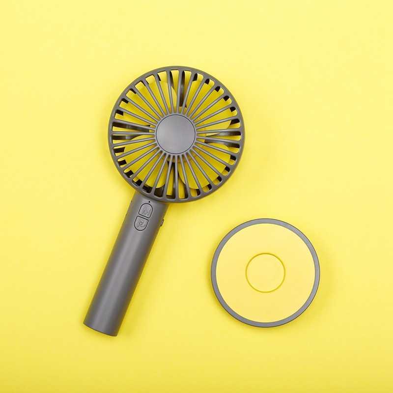 Перезаряжаемый вентилятор Macaroon 3 скорости USB зеркальный вентилятор для путешествий портативный ручной охлаждающий мини-студенческий лучший подарок GXZ-F806 серый