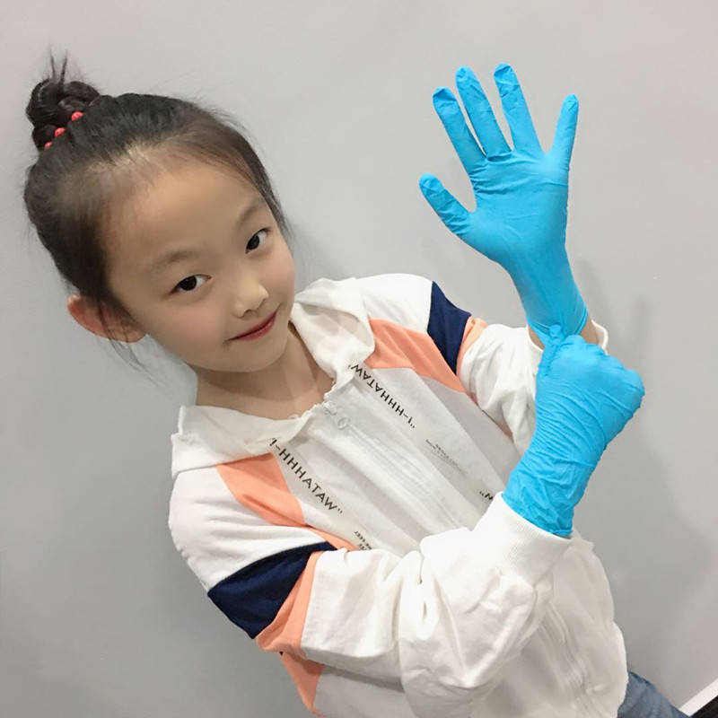 100pcs Latex Nitrile Disposable Gloves For Children Kids Food Grade Kitchen Waterproof Non-Slip Work Gloves Safety