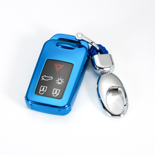 New TPU Soft Silica Gel Car Key Full Cover Case For VOLVO S60L S80L XC60 S60 V60 Auto Shell Protection keychain keyring