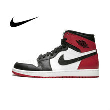Original Nike Air Jordan 1 OG Retro Royal AJ1 Men's Basketball Shoes Sports Outdoor Comfortable Breathable Sneakers 555088-184(China)