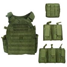 페인트 볼 보호 플레이트 캐리어 Airsoft MOLLE 전술 조끼 GP MAG 파우치 1000D 나일론 육군 전투 야외 사냥 Wargame