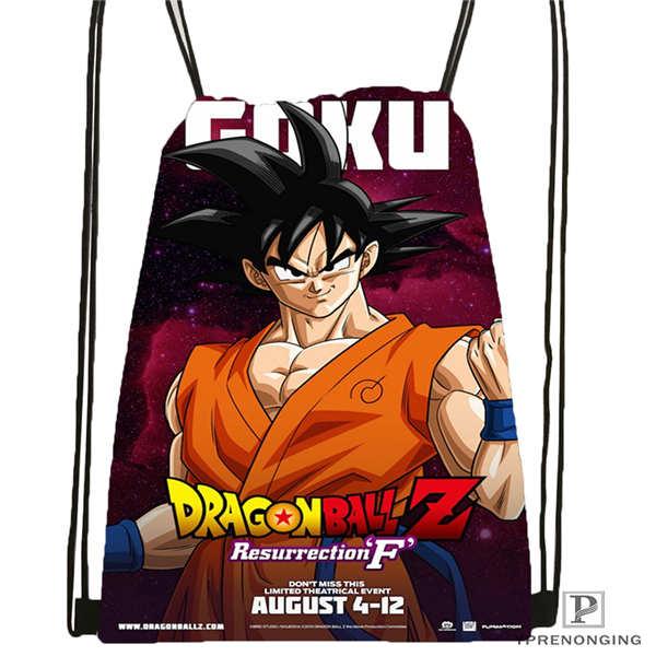 Custom Dragon-Ball-Z-Super-   Drawstring Backpack Bag Cute Daypack Kids Satchel (Black Back) 31x40cm#2018611-2(16)