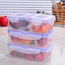 Прозрачная пластиковая коробка, коробка для ланча, прямоугольная герметичная коробка для офисного работника, холодильник, бытовая коробка для еды LM5221709py