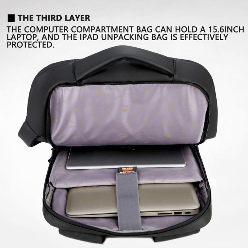 Image 5 - 2019 Mens Anti theft 14 15.6 inch Laptop Backpack USB Charging  Waterproof Male Business Travel Back Pack  Boys School  BagpacksBackpacks