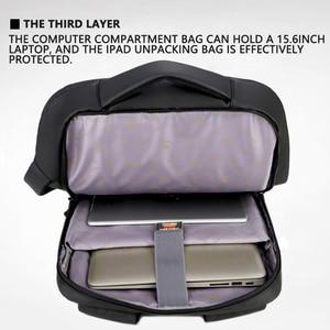"Image 5 - 2019 Mens Anti theft 14 15.6"" inch Laptop Backpack USB Charging Waterproof Male Business Travel Back Pack  Boys School Bagpacks"