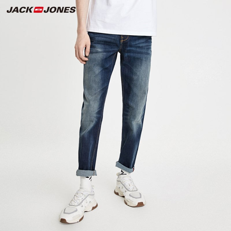 JackJones Men's Fashion Trend Slim Stretch Jeans Denim Pants Menswear Basic 219132554
