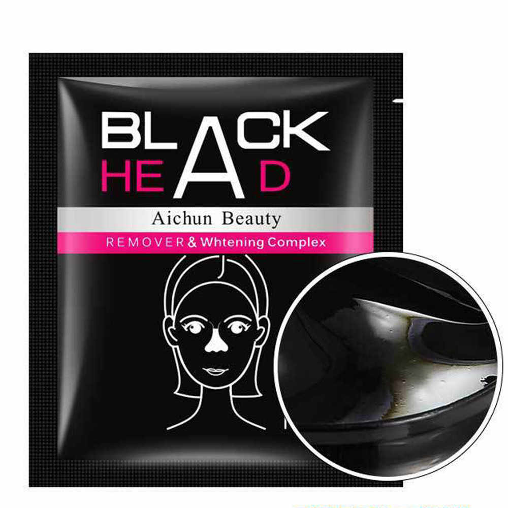 Black Mud Deep Cleansing Purifying Peel Off Facail Face Mask Blackhead Removal Face Mask Black Mask Acne Treatments