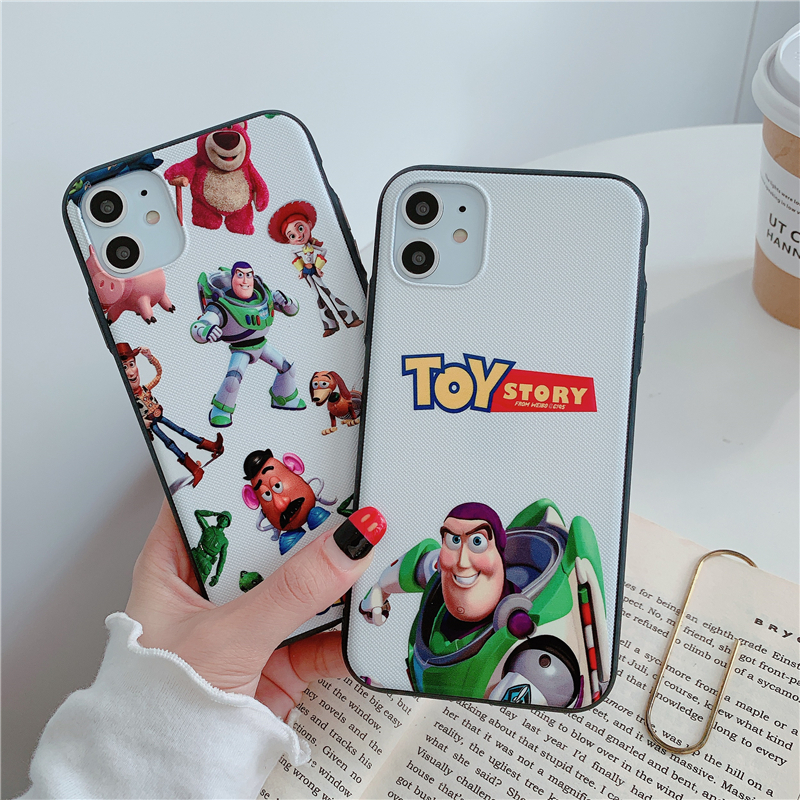Cartoon <font><b>toy</b></font> case for <font><b>iphone</b></font> 11 pro x xs max xr 8 7 <font><b>6</b></font> 6s plus SE 2 silicone phone cover 3D relief Camo <font><b>story</b></font> coque fundas <font><b>capa</b></font> image