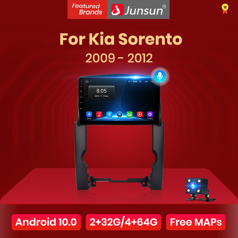 Junsun V1 Android 10 ИИ Голосовое управление 4G DSP автомобильное Радио мультимедийный плеер видео для Kia Sorento 2009 2010 2011 2012 навигация GPS магнитола for Kia ...
