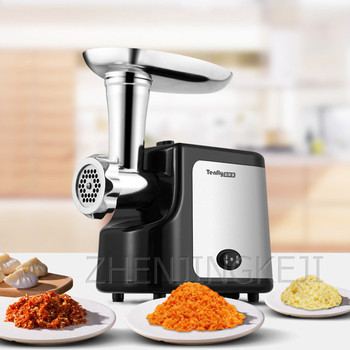 Home Meat Grinder Stainless Steel Multifunction 2 Speeds Sausage Stuffer Electric Chopper Meat Mincer Food Processing Slicer itop home electric meat grinder multifunctional meat mincer vegetable chopper sausage filler stainless steel mincer maker 3 blad