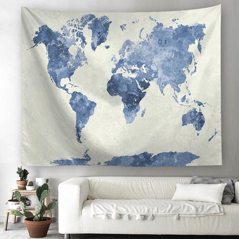 Mapa Mundo Arte Tapeçaria Hippie Pendurar Parede Sala Home psychedlic Tapeçaria nos enviar