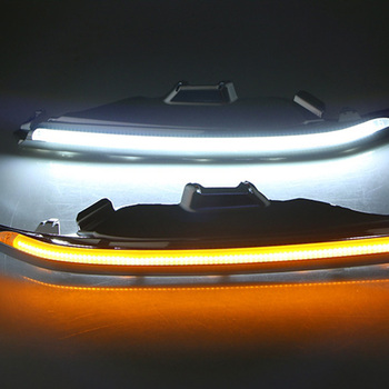 Car Headlight Eyebrow with Turn Signal 12V DRL LED Daytime Running Light for Toyota Camry 2015 2016 2017 2018