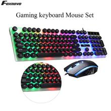 Gaming keyboard and Mouse Wired keyboard with backlight keyboard Gamer kit 5500Dpi Silent PC Gamer Mouse Set For PC Laptop wireless gaming keyboard mouse set with led backlight gaming backlight 2 4ghz wireless keyboard alloy panel suitable for desktop