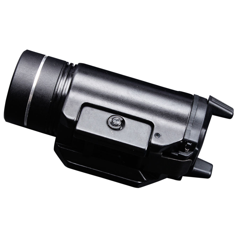 Cree XML2 Weapon Mounted Tactical Light IPX7 Lightweight Compact High Lumen With Strobe CR123A  Boro Float Glass