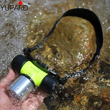 YUPARD 18650 battery or 3x AAA XM-L2  T6 LED white yellow light 30m Diver Diving headlamp Flashlight Torch Waterproof outdoor