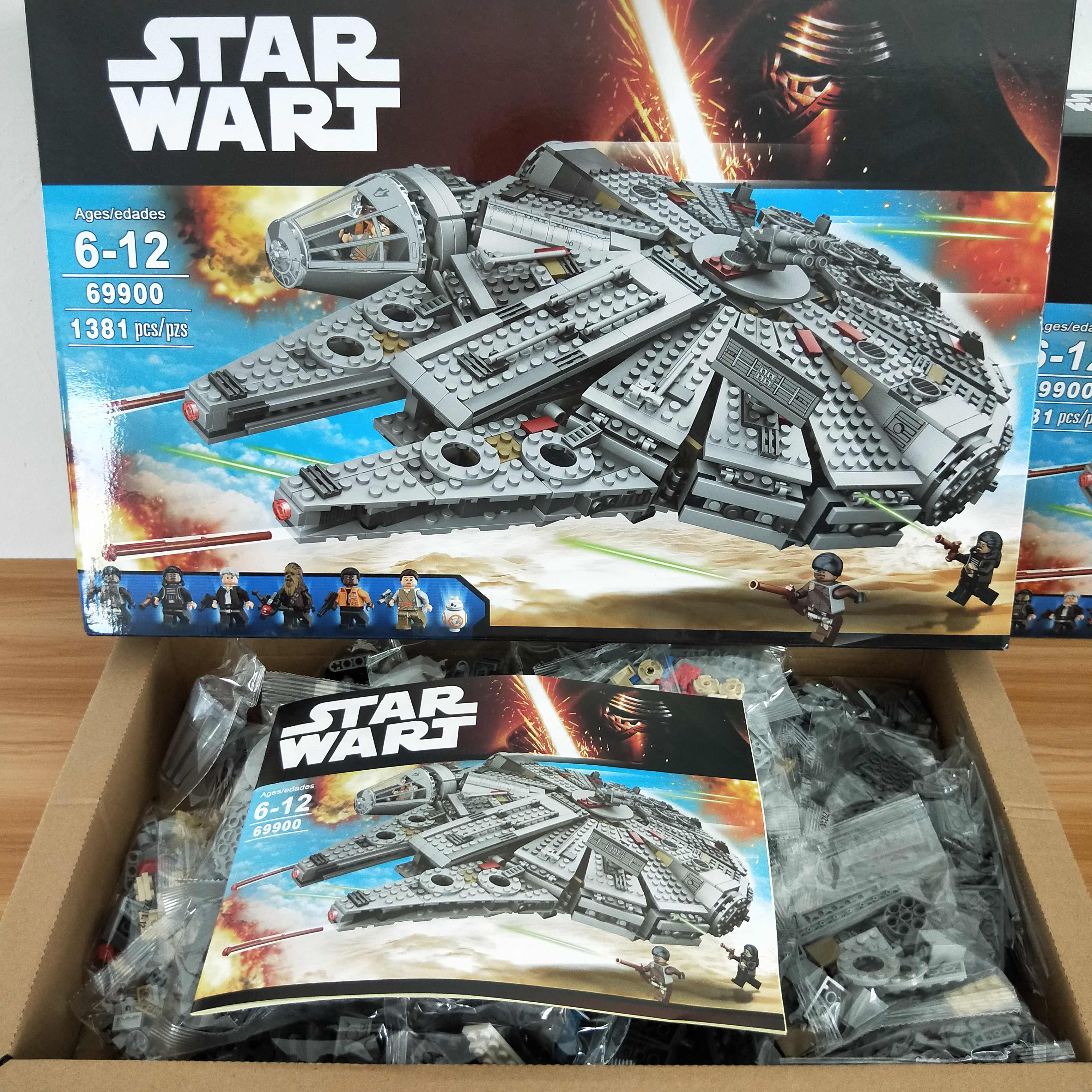 Millennium Compatible with Iegoset 75105 05007 79211 building blocks Awakens Star Falcon Wars Bricks toys for Kids 75105 10467