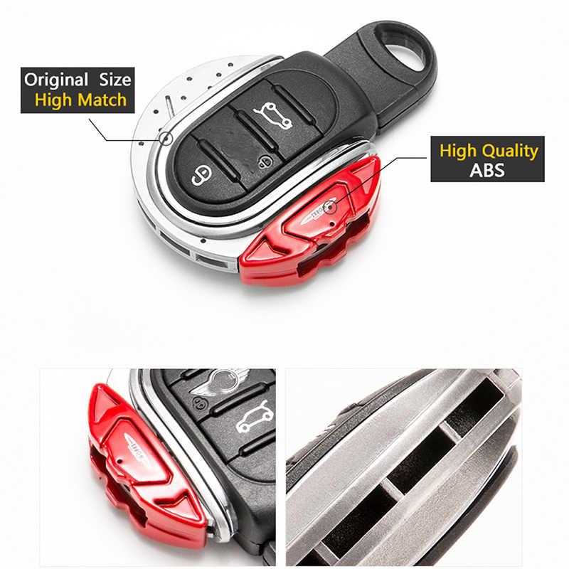 Smart Key Cover JCW เบรค Disc สไตล์รูปร่าง 3/4 ปุ่มคีย์ Fob Case Shell พร้อมพวงกุญแจสำหรับ MINI cooper F55 F56 F57 F60