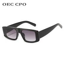 Oec cpo новые модные квадратные пластиковые солнцезащитные очки