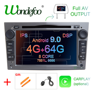 IPS DSP 4GB Android 9.0 2 DIN CAR GPS for opel Vauxhall Astra H G J Vectra Antara Zafira Corsa Vivaro Meriva Veda DVD PLAYER(China)