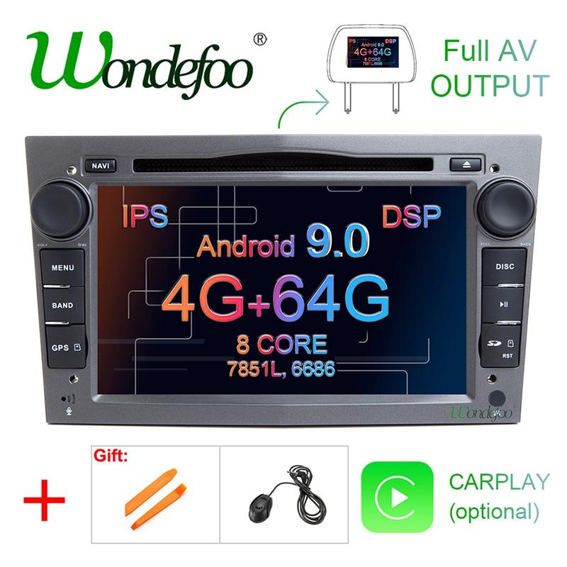 IPS DSP 4GB Android 9.0 2 DIN CAR GPS for opel Vauxhall Astra H G J Vectra Antara Zafira Corsa Vivaro Meriva Veda DVD PLAYER|2 din dvd gps|dvd gps|screen radio - title=
