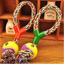 Веревка для собаки узел игрушка y образная красочная хлопковая