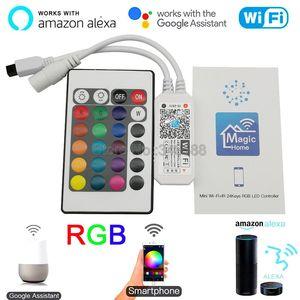 Magic Home экшн-камера с Wi-Fi подключением RGB LED Управление; С 24Key ИК-пульт дистанционного управления DC5V 12V 24V Поддержка с помощью приложения на теле...