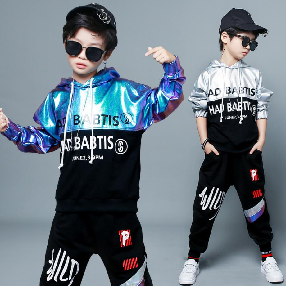 2Pcs Autumn Clothing Set for Boys Kids Spring Suits Children Tassels Print Sweatshirts + Haren Pants For 4 6 8 10 12 14 Years