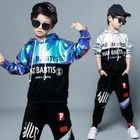 2Pcs Autumn Clothing Set for Boys Kids Spring Suits Children Tassels Print Sweatshirts + Haren Pants For 4 6 8 10 12 14 Years