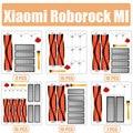 Аксессуары наборы для xiaomi Roborock S50 S51 E25 S5 E20 C10 Roborock Робот Запчасти фильтр боковая круглая щетка