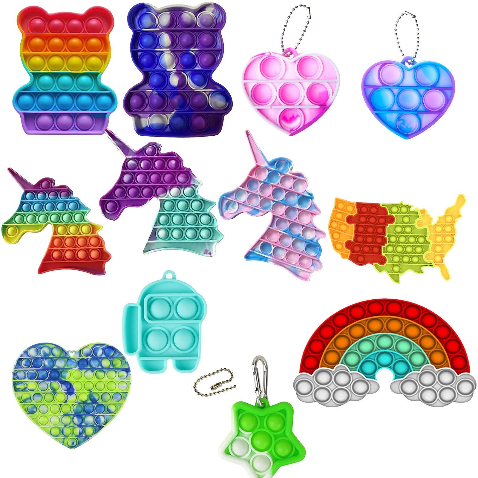 Дешевые сенсорная Непоседа упаковка игрушек вытолкнуть его Popit подарок для детей и взрослых поп игрушка пузырь сенсорная игрушка для сняти...