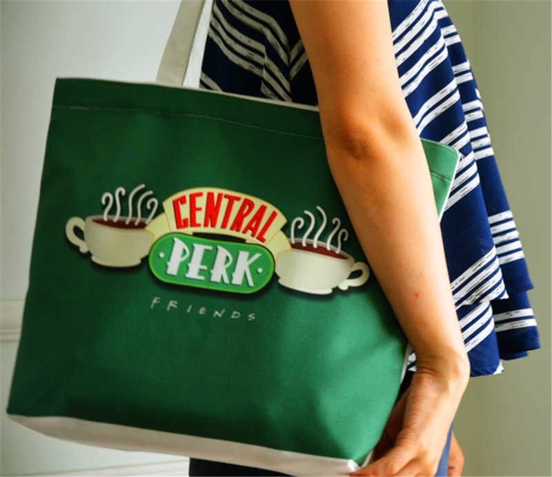 TV Series FRIENDS Central Perk Canvas Shoulder Bag Neverfull Shopping Bags Purse