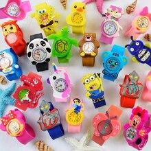 Детские игрушки подарок детям смотреть мультфильм часы Человек Паук дети Альтман часы электронные малыш девушка мальчика 1-6 лет ребенок смотреть