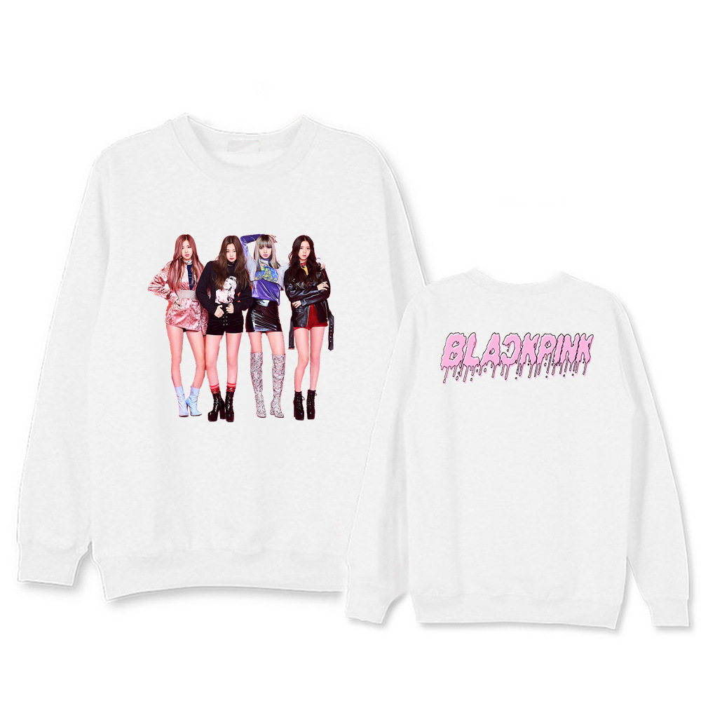 BLACKPINK Kpop Sweatshirt Hoodie Clothes Hoodies Women Harajuku Pink Winter Coat Men Cotton Casual Cartoon 2019new Spring Autumn