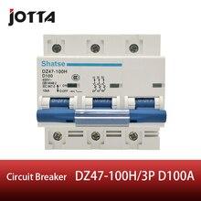 цены DZ47-100H 3P 100A AC 400V Circuit breaker MCB D curve