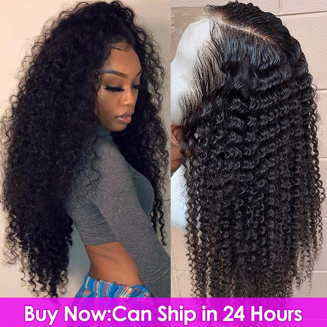 $ US $55.85 Lace Frontal Human Hair Wigs 13*4 Brazilian Kinky Curly Human Hair Wig PrePlucked with Baby Hair Beaudiva Curly Lace Frontal Wig