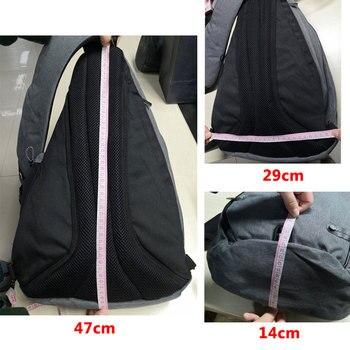 IX Brand Large Capacity Chest Bag Pack Nylon Zipper Women's Messenger Bags Men's School Bag Modern Shoulder Bag Backpack XA260WA 2