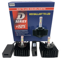 DarkAway D1S LED D2R D3S D4S D5S D8S Bulb Direct Connect to HID Ballast Replace 12V 35W Original Bulb Plug Play Canbus 6500K
